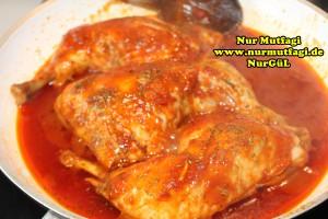 mercimekli bulgur pilavi nasil yapilir tarifi - soslu tavuk esliginde (4)