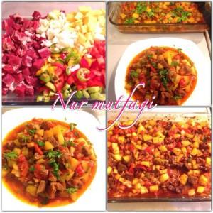 firinda sebzeli kebab
