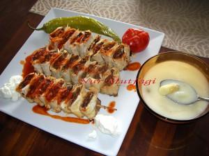 firinda cöp siste kiymali yufkali kebab