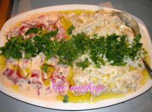 közlenmis yogurtlu salat
