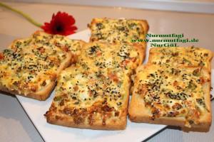yumurtali ekmek dilimleri ekmek pizzasi (6)