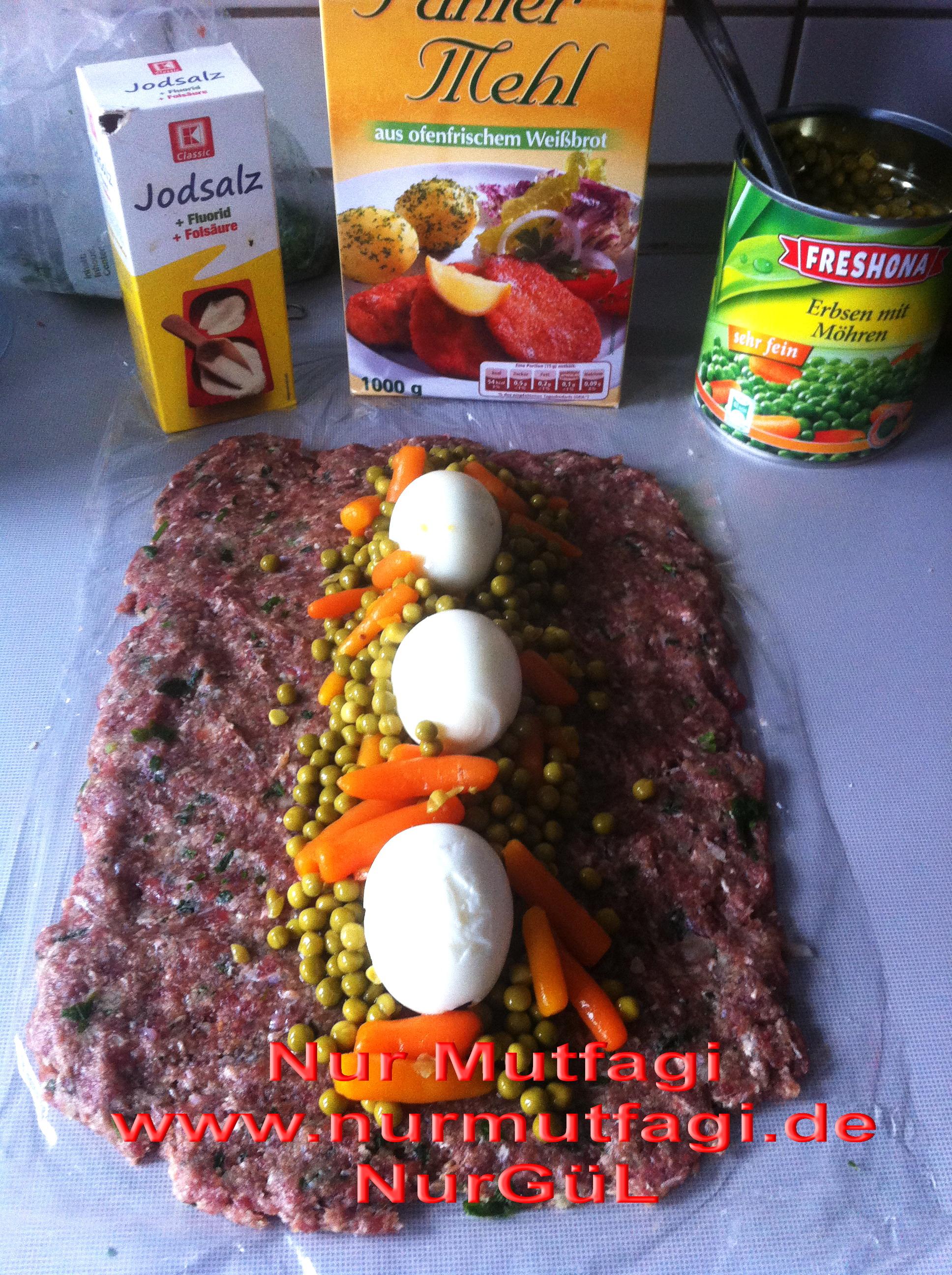 Fırında Yumurtalı Rulo Köfte Tarifi