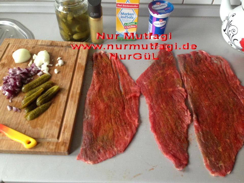 mantarlı rulo biftek