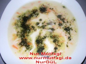 havuclu köfteli yogurtlu corba