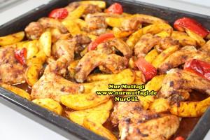 firinda patatesli baharatli tavuk kanadi tarifi (6)