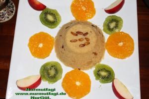 irmik helvasi dondurmali meyve sunumlu (10)