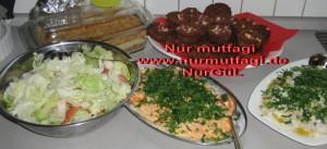 yogurtlu havuc, patlican salatasi  (3)