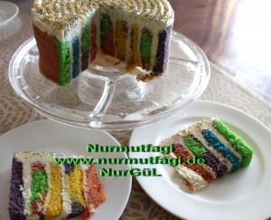 5 renkli gökkusagi pastasi regenbogen torte (3)