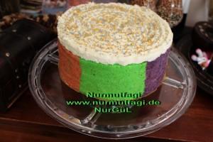 5 renkli gökkusagi pastasi regenbogen torte