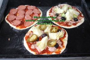 mini pizza salamli, tonbalikli, kiymali (6)