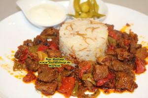 Düdüklü tencerede et sote tas kebabi (2)