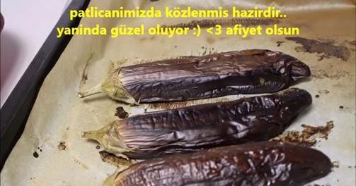Fırında Patlıcan Nasıl Közlenir Videosu