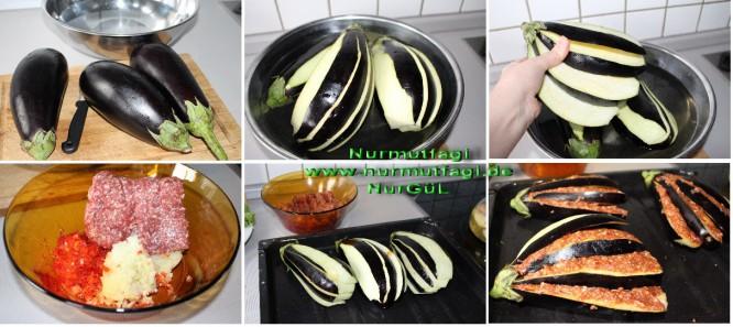 Fırında patlıcan yelpazesi hazırlıyoruz