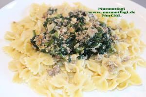 ispanak sosu kremali makarna (2)