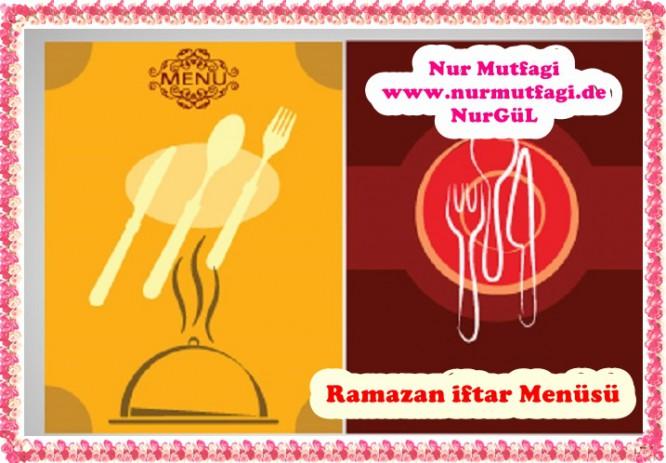ramazan menü IFTAR MENÜSÜ listesi