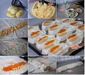 3 cesitli yufka böregi peynir, patates, havuc (1)set