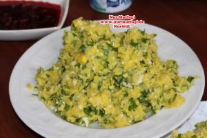 kahvaltilik sofra, tulum peyniri, patates salatasi, yumurta salatasi