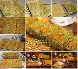 fistikli baklava, cevizli baklava, hazir yufka ile baklava nasil yapilir, citir baklava tarifi (27)set