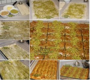 fistikli baklava, cevizli baklava, hazir yufka ile baklava nasil yapilir, citir baklava tarifi (2)set