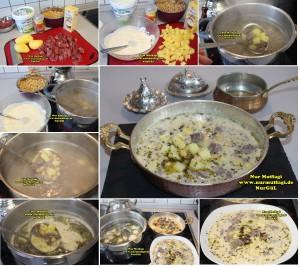 haspirli safranli yogurtlu patatsli nohut yemegi gaziantep antep (2)set