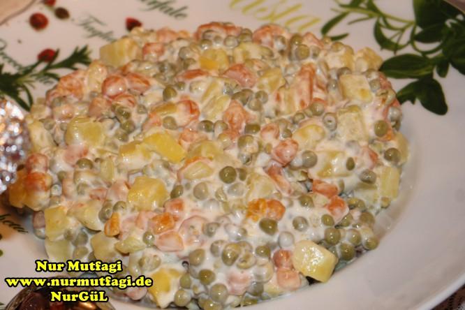 Rus salatasi tarifi nasıl yapılır — Görsel Yemek Tarifleri ...