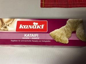 yunan kadayifi -kadayif