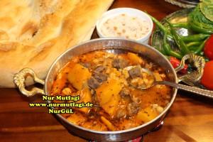Kabaklama gaziantep yöresel yemek tarifi - etli nohut - nahni  (13)