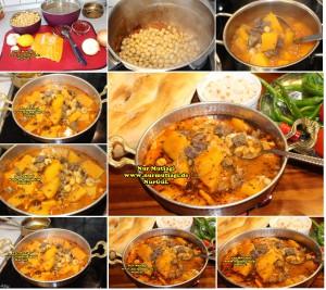 Kabaklama gaziantep yöresel yemek tarifi - etli nohut - nahni  (2)