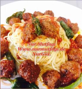 domates soslu mini köfteli spaghetti  (1)