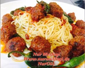 domates soslu mini köfteli spaghetti  (6)