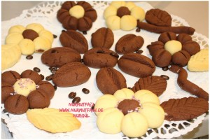 cicek kurabiye tarifi, yaprak kurabiye tarifi, kahve kurabiye tarifi