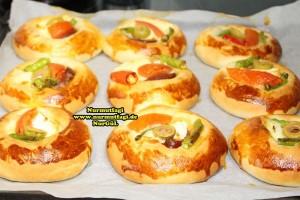 k-cicek pogaca, gül pogaca, pizza pogaca, karniyarik pogaca, bir hamurdan 6 cesit pogaca tarifi (35)
