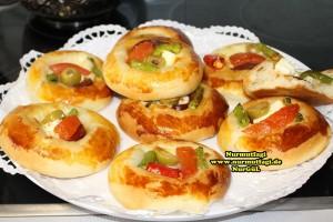 k-cicek pogaca, gül pogaca, pizza pogaca, karniyarik pogaca, bir hamurdan 6 cesit pogaca tarifi (40)