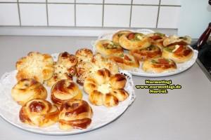 k-cicek pogaca, gül pogaca, pizza pogaca, karniyarik pogaca, bir hamurdan 6 cesit pogaca tarifi (60)