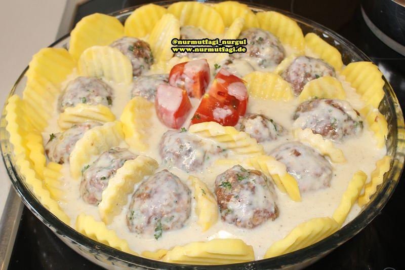 firinda besamel soslu köfteli patates (5)