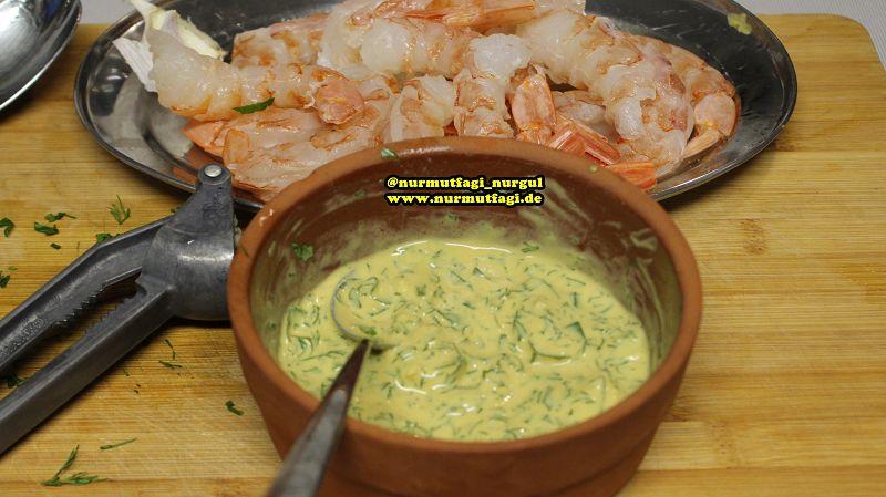 karides, jumbo karides, hummer, languste, lobster, yengec tarifi, remolade sos nefis bir balik menüsü (23)